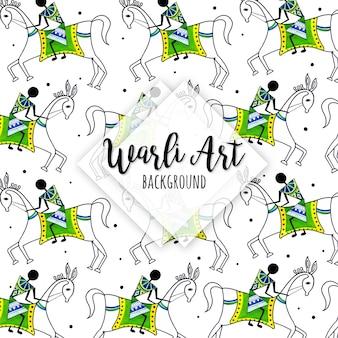 Aquarela warli art pattern background