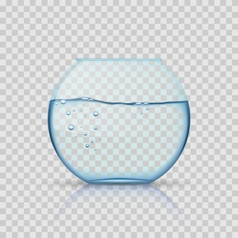 Aquário de vidro realista
