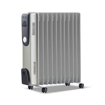Aquecedor de radiador. isolado no fundo branco