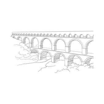 Aqueduct avignion, frança