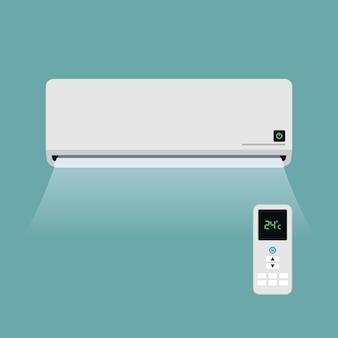 Ar condicionado e controle remoto
