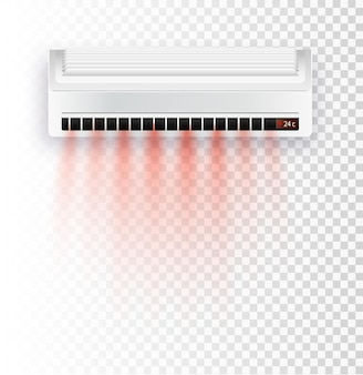 Ar condicionado isolado ilustração vetorial vetor correntes de ar