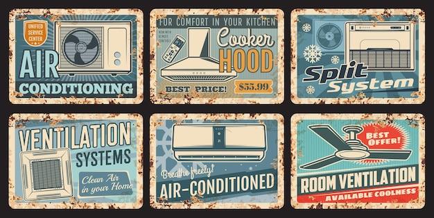 Ar condicionado, ventilação, aquecimento e refrigeração