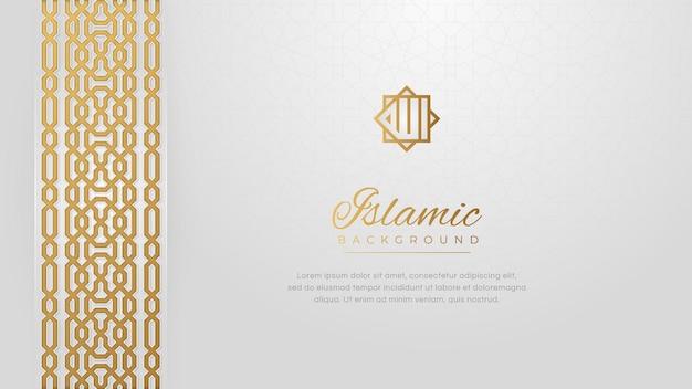 Árabe árabe islâmico ornamento dourado fronteira padrão arabesco fundo de luxo