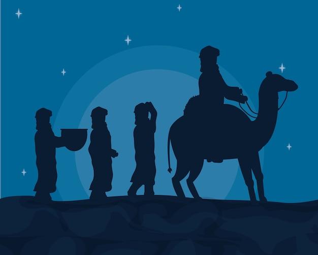 Árabes com camelos