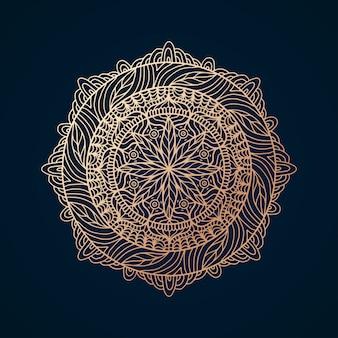Arabesco mandala dourada