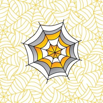 Aranha colorida web arte tema - ilustração de arte em vetor