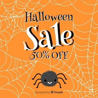 Aranha e venda de halloween de teia de aranha