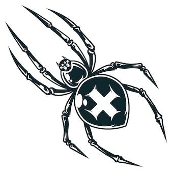 Aranha transversal assustador