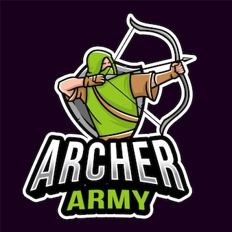 Archer army esport logotipo