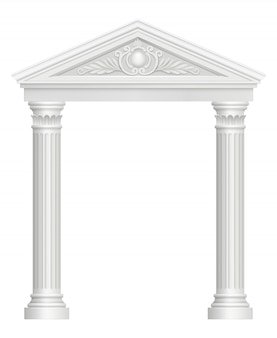 Arco antigo. palácio de colunata entrada imagens realistas de estilo barroco arquitetônico