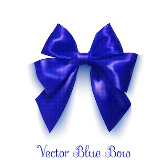 Arco azul realista. objeto para design. ilustração vetorial