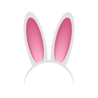 Arco de cabeça com orelhas de coelho ou lebre máscara de coelho com tiara para o festival de festa de celebração da páscoa