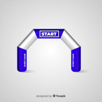 Arco de linha de partida inflável com design realista