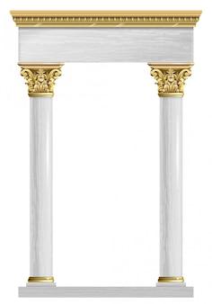 Arco de ouro e mármore
