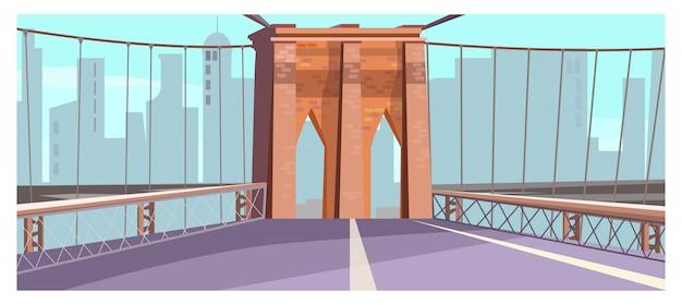 Arco de tijolo da ilustração de ponte de cidade