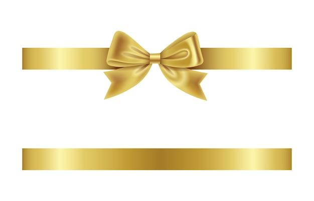 Arco e fita dourados