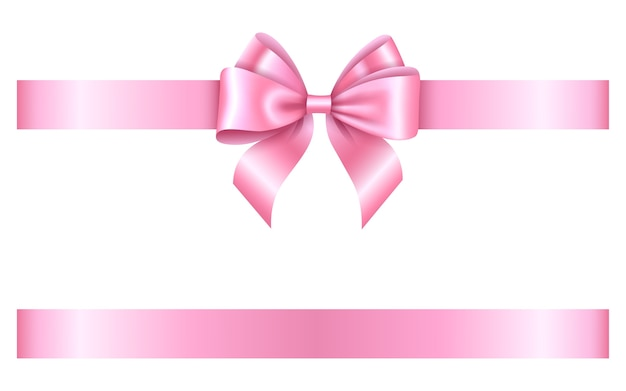Arco e fita rosa