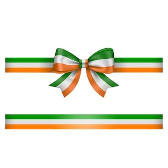 Arco e fita tricolor irlandês