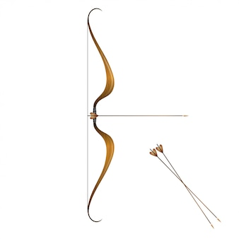 Arco e flechas vintage