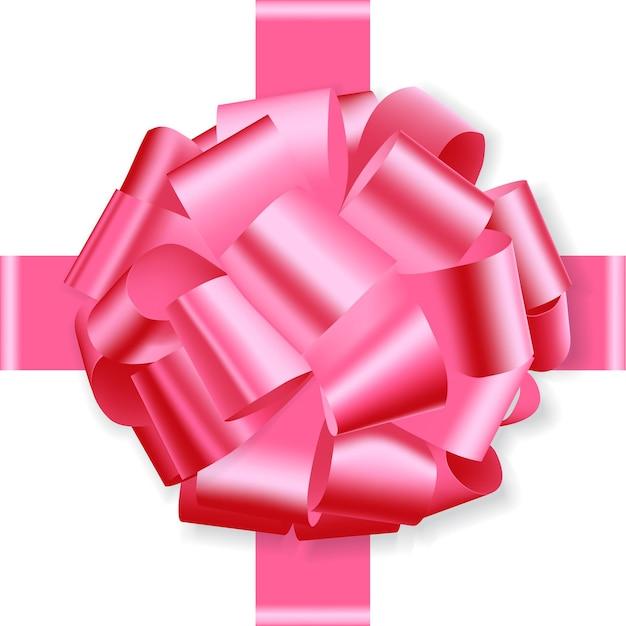 Arco feriado rosa isolado no branco