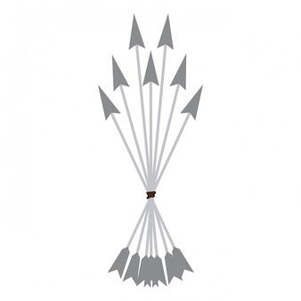 Arco flechas símbolo