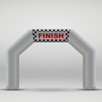 Arco inflável da linha de chegada 3d. ilustração vetorial