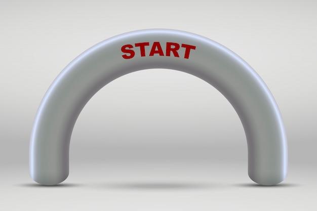 Arco inflável da linha de começo 3d