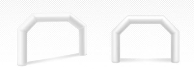 Arco inflável para publicidade, corridas e eventos Vetor grátis