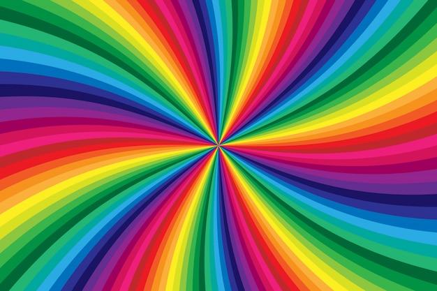 Arco-íris colorido redemoinho torcendo fundo