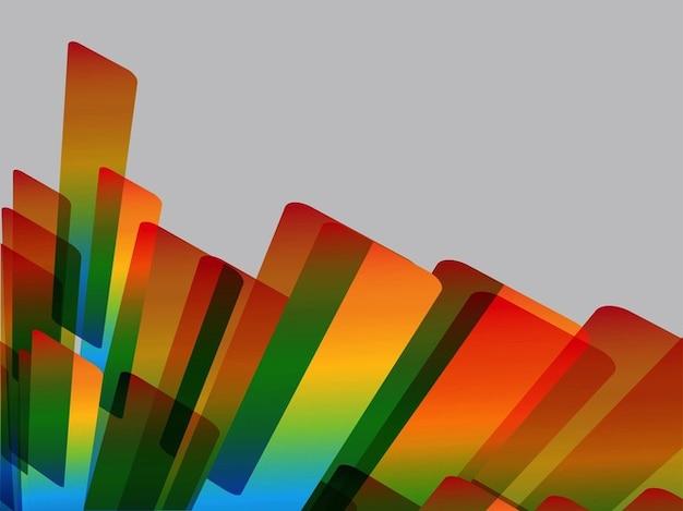 Arco-íris de layout abstrato