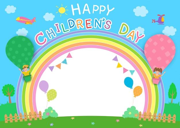 Arco íris do dia das crianças