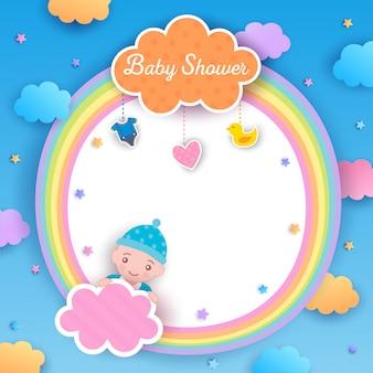 Arco-íris do menino do chuveiro de bebê
