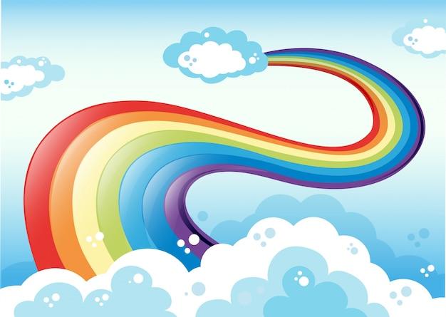 Arco-íris e céu