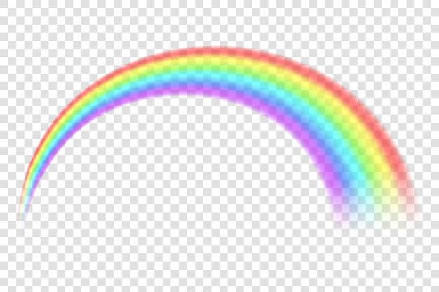 Arco-íris em forma de espectro diferente.