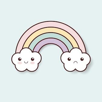 Arco-íris kawaii