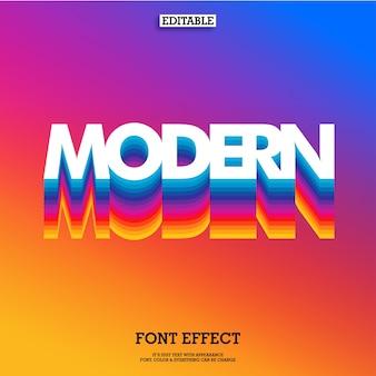 Arco-íris moderno efeito de fonte em camadas e fundo gradiente