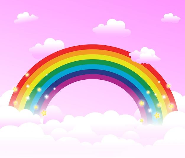 Arco-íris no mundo da fantasia