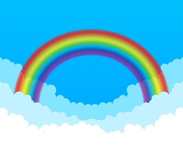 Arco iris. nuvens e arco-íris.