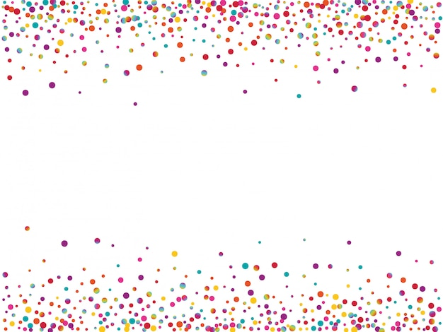 Arco-íris voando redondo convite. textura de ponto de carnaval de cor