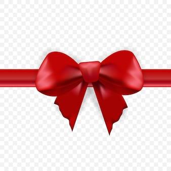 Arco vermelho realista e fita horizontal.