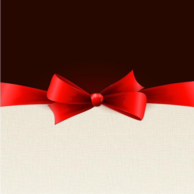 Arcos de presente vermelho com fitas.
