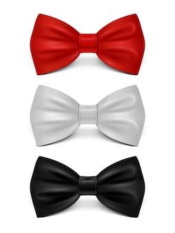 Arcos realistas isolados - conjunto de gravata clássica