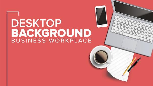 Área de trabalho no local de trabalho