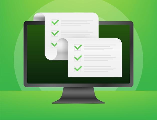 Área de transferência com o ícone da lista de verificação. área de transferência com o ícone de lista de verificação para a web. ilustração vetorial.