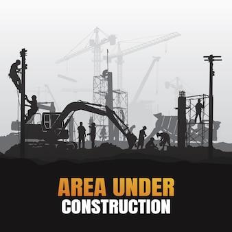 Área em plano de construção