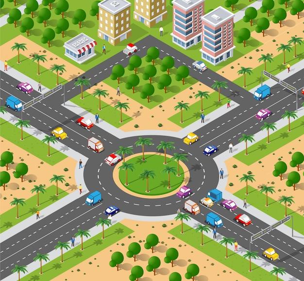 Área urbana com interseção