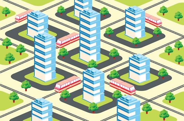 Área urbana isométrica