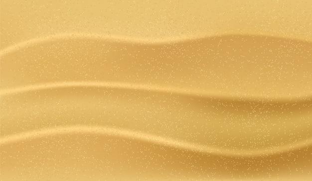 Areia da praia realista. textura de ilustração com top vie areia, banner de oceano, fundo de verão