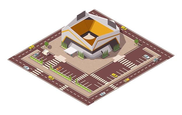 Arena desportiva isométrica